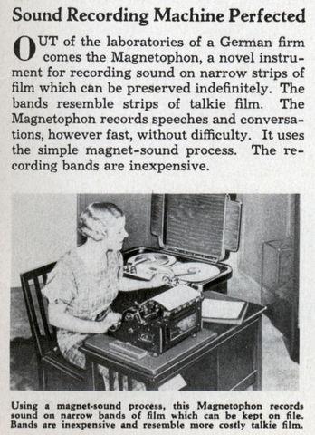German magnetic tape recorders