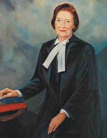 First Female Supreme Court Judge