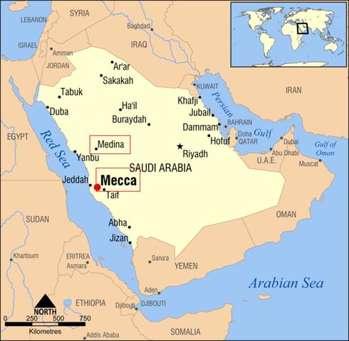 Mahoma Huye a Medina
