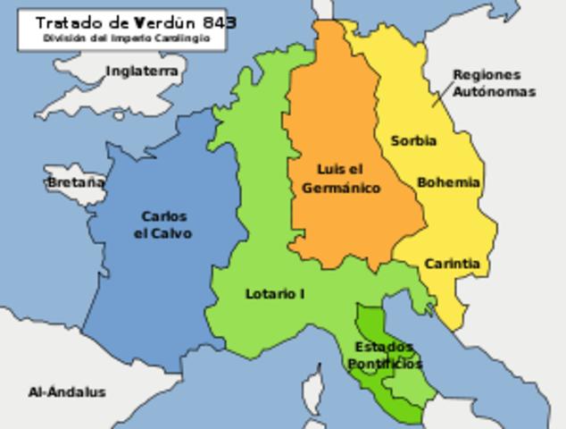 División del Sacro Imperio Romano
