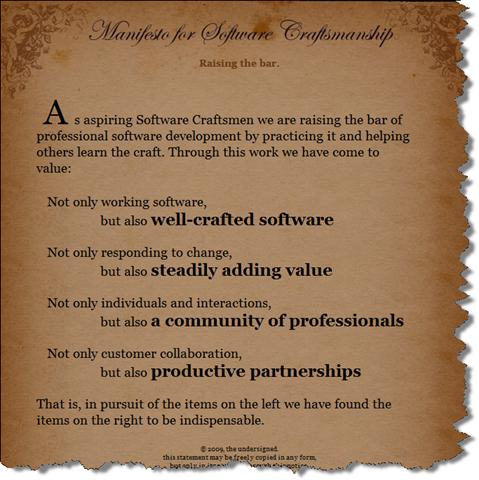 Manifesto for Agile Software Development.