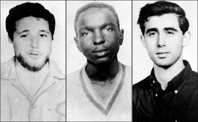 Three civil-rights workers murdered in Mississippi