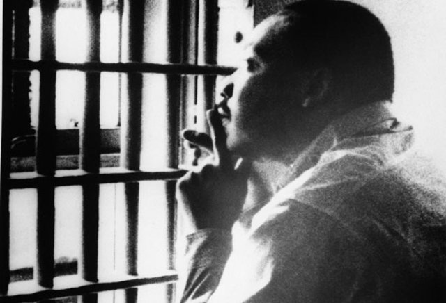 MLK arrested and jailed in Birmingham