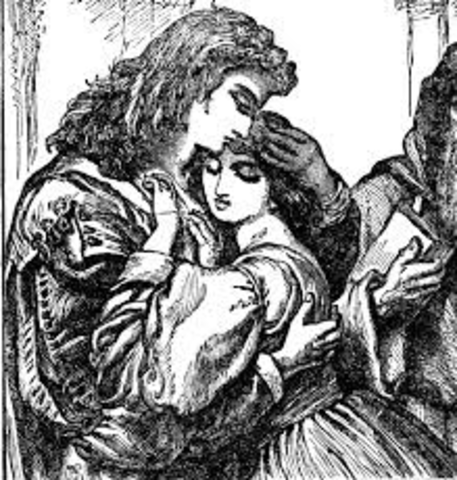 William Shakespeare writes Romeo and Juliet, and Love's Labours Lost