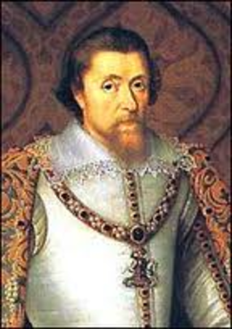 Queen Elizabeth 1 dies.  James VI of Scotland rises to the English throne, uniting England and Scotland under one crown under his new name, James I