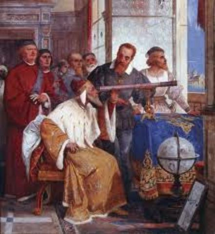 Galileo demonstrates his first telescope to Venetian lawmakers