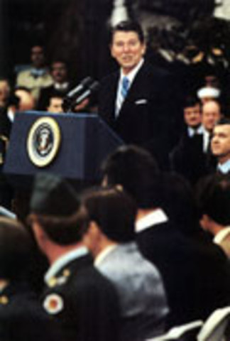 first inaugoration of Ronald Reagon