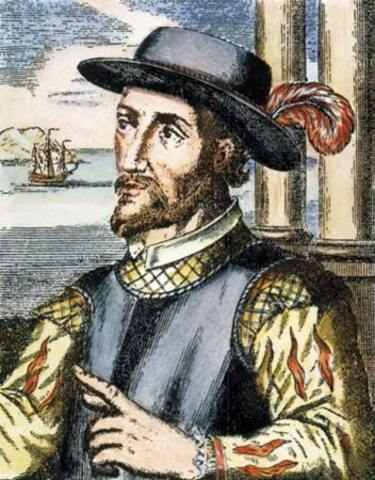 Juan Ponce de Leon explores Flordia