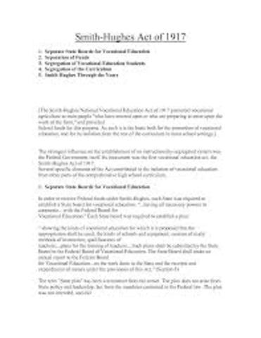 Smith-Hughes Act
