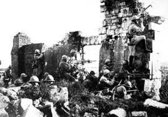 Mark the years of World War I