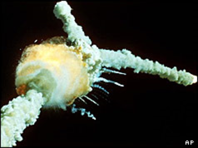 Explosion of the Challenger Space Shuttle