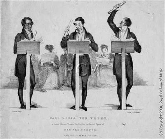 Hoffmann, Carl Maria von Weber y Franz Schubert