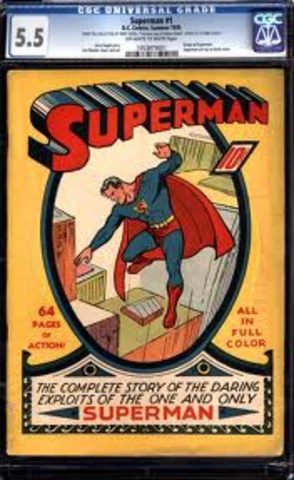 First appearance of Superman in comics