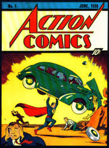 The First Appearance of Superman in Action Comics