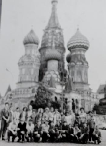 Группа кружковцев на экскурсии в г. Москва