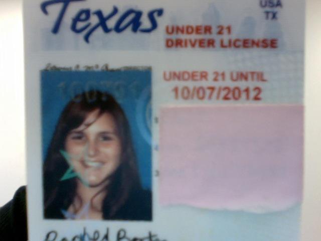 El Día agarre mi licencia de manegar