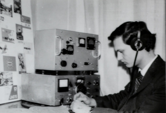 На занятиях радиооператоров