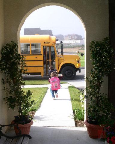 Mi primer dia de escuela.