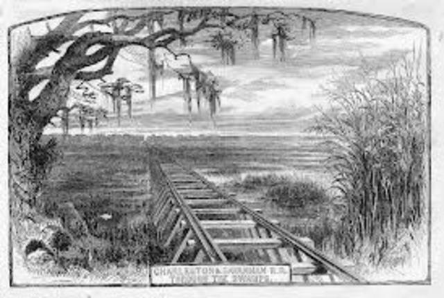 First rail road built