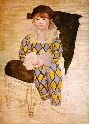 Pablo Picasso - Paul en arlequin