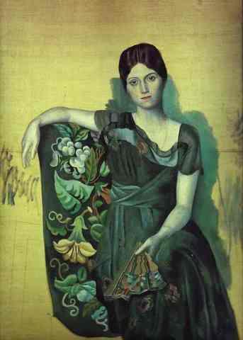 Pablo Picasso - Portrait d'Olga dans un fauteuil