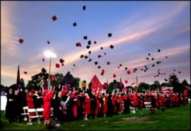 Graduating high school from Garden Spot High School