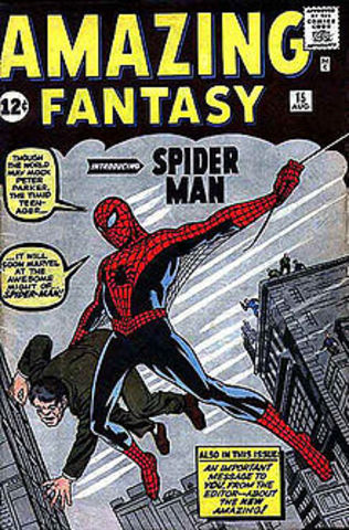 The First Apperance of Spider-Man in Comics