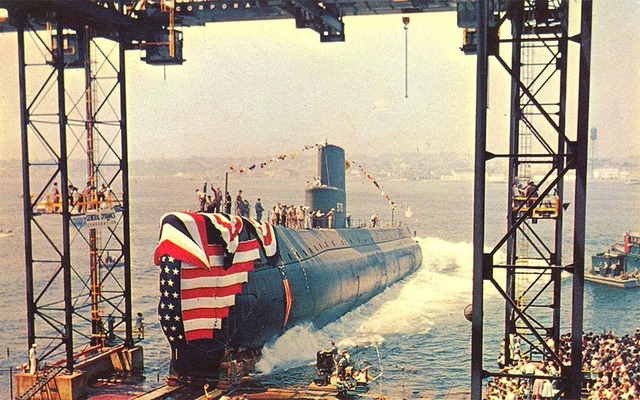 First Atomic Submarin lauched