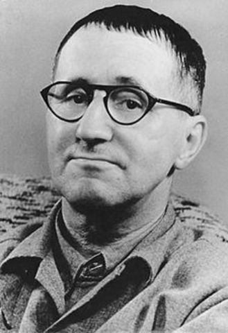 "Brecht writes essay ""On Experimental Theatre"""