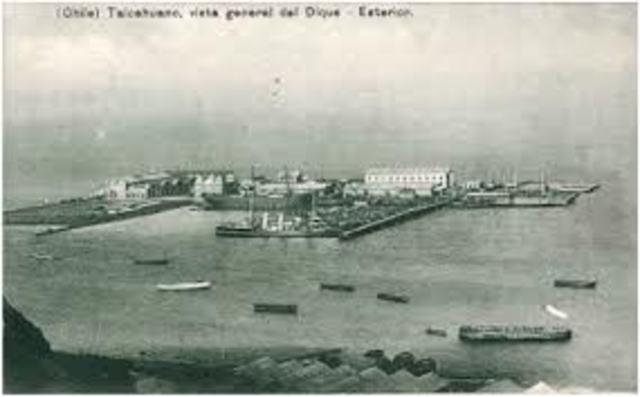 construccion del dique de talcahuano