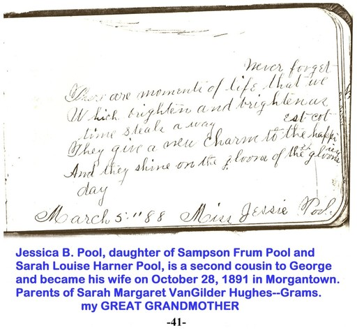 Jessie signed George VanGilder autograph book