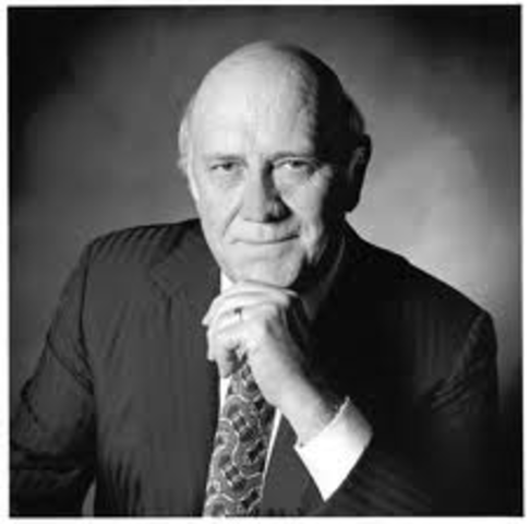 President F.W. De Klerk announces the unconditional release of Nelson Mandela from prison and the legalization of the ANC, PAC, and other anti-apartheid groups.