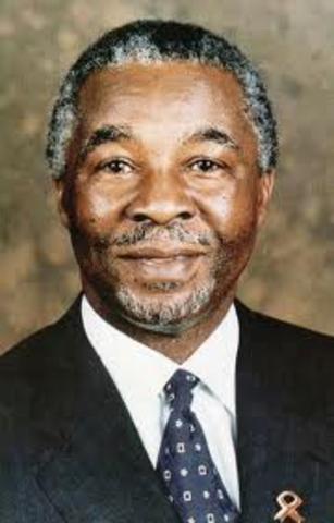 Thabo Mbeki elected as president