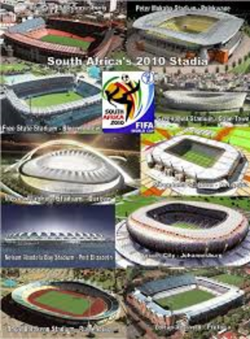 Stadiums for 2010 Soccer World Cup announced
