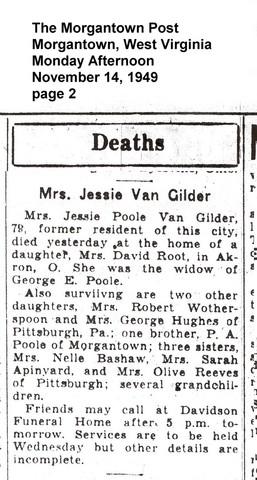 Death of Jessica Pool VanGilder in Akron, Ohio