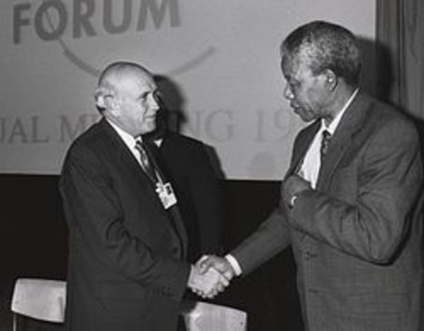 President F.W. De Klerk legalizes anti-apartheid groups