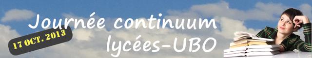 Journée d'étude Continuum lycée/UBO