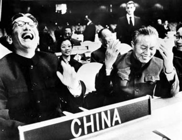 China entra en la naciones Unidas