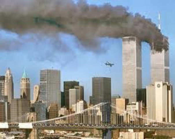 Terrorists attack the twin towers (9/11)