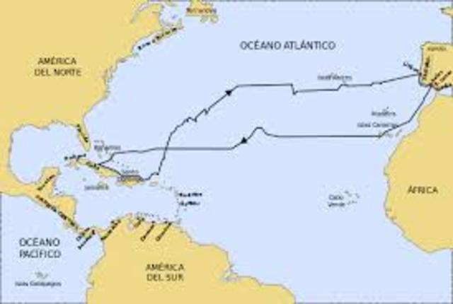 Colombus sailed the ocean blue