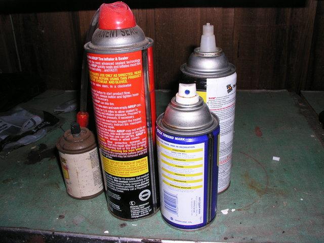 Aerosol spray cans invented by American inventors, Lyle David Goodloe and W.N. Sullivan.