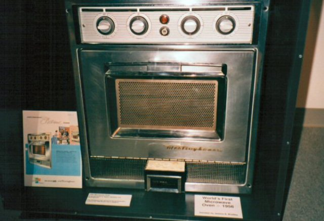 The microwave oven invented by Percy Spencer.