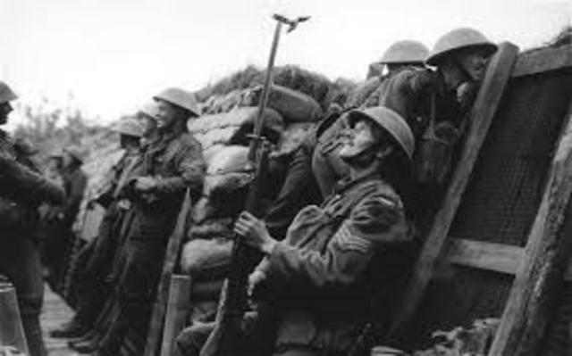 Mark the years of World War 1