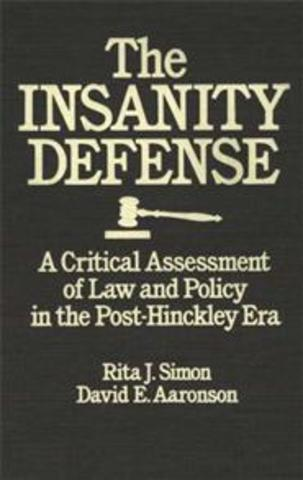 Insanity Defense Reform Act passed