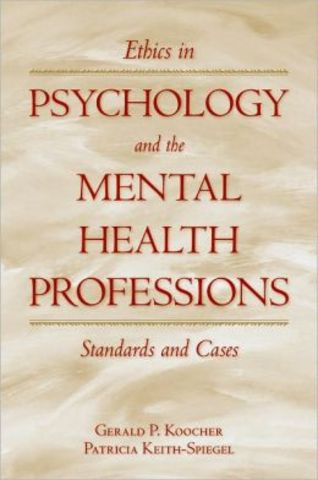 Ethical Standards of Psychologists