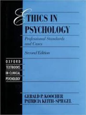 Ethical Standards of Psychology