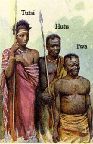 Riots between Hutus and Tutsies