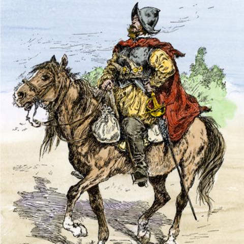 Spanish under Onate conquer pueblo people's of Rio Grande