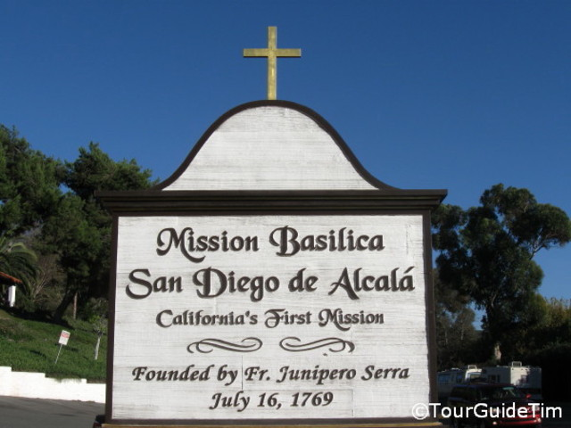 Serra founded first California mission at San Diego