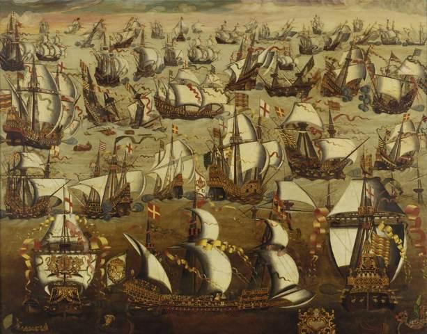 English defeats Spanish Armada